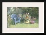 Garden Corner Framed Giclee Print by Allan Myndzak