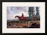 Horse Fox Hunt II Print by Timothy Blossom