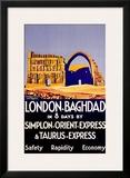 Simplon Orient Express, Baghdad, Iraq Framed Giclee Print