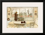 Flowers on the Windowsill Posters by Carl Larsson