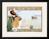 Red Star Line Framed Giclee Print by Henri Cassiers