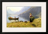 Norweigian Viking Fjord Western Norway Print by Hans Andreas Dahl