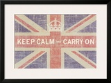 Keep Calm and Carry On (Union Jack) Print by Ben James