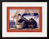 Pennsylvania Railroad, Steam Locomotive Framed Giclee Print by Grif Teller