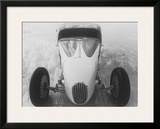 Coupe Heaven Salt Flat Racer Framed Giclee Print by David Perry