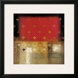 Gold Patterns Framed Giclee Print by Eric Balint
