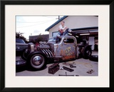 Pin-Up Girl: Truck Rod Framed Giclee Print by David Perry