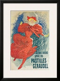 Pastilles Geraudel Framed Giclee Print by Jules Chéret
