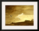 RAF Spitfire ME109 Dog Fight Framed Giclee Print by Bill Northup