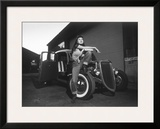 Rock-a-Billy Queen Rat Rod Framed Giclee Print by David Perry