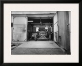 Rat Rod, Work Shop Garage Framed Giclee Print by David Perry