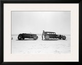 Salt Flat Rat Rod Framed Giclee Print by David Perry