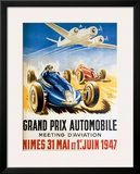 Grand Prix Automobile Nimes Framed Giclee Print by Geo Ham