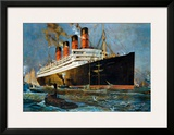 Aquitania Framed Giclee Print by Odin Rosenvinge