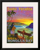 Exotic Paradise, Honolua Bay Framed Giclee Print by Rick Sharp