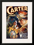 Carter the Great Magician Wizard Framed Giclee Print