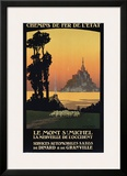 Le Mont St. Michel Framed Giclee Print by Constant Leon Duval