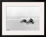 Daytona Motorcyclist Framed Giclee Print