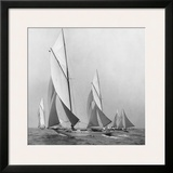 Sailboats Sailing Downwind, 1920 Prints by Edwin Levick