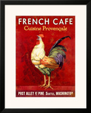 French Cafe, Seattle, Washington Framed Giclee Print