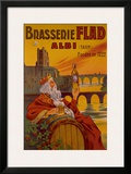Brasseries Flad Albi Framed Giclee Print