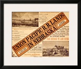 Union Pacific, Nebraska Railroad Land Framed Giclee Print