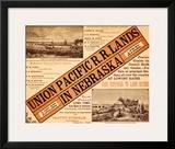 Union Pacific, Nebraska Railroad Land Framed Giclee Print