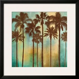 Aqua Palms I Art by John Seba