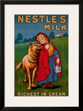 Nestle's Milk Framed Giclee Print