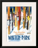 True Mountain Adventure Winter Park Framed Giclee Print