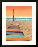 Orange Beachwalk Posters by Robin Renee Hix