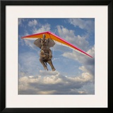 Flying Elephant Prints by John Lund