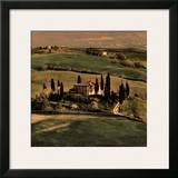 Tuscan Villa Print by Elizabeth Carmel