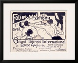 Folies-Marigny, Tournoi de Boxe Framed Giclee Print by Charles Genty