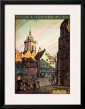 Chemins de Fer d'Alsace Framed Giclee Print