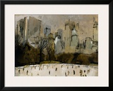 Winter In Manhattan Framed Giclee Print by  Georgie