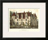 Petite French Chateaux VI Framed Giclee Print by Victor Petit