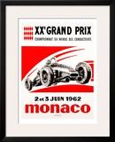 Monaco Grand Prix, 1962 Framed Giclee Print
