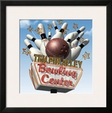 Ten Pin Alley Bowling Center Framed Giclee Print by Anthony Ross