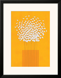 Nine Stem Vase Framed Giclee Print by Takashi Sakai