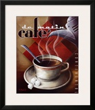 Cafe de Matin Print by Michael L. Kungl