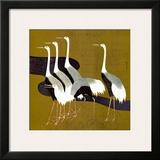 Cranes Art by Sakai Hoitsu