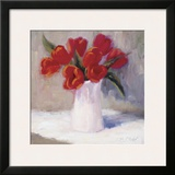 Red Tulips Framed Giclee Print by B. Oliver