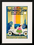 Cleveland Automobile Show Framed Giclee Print
