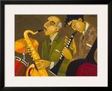 Sax & Clarinet! Framed Giclee Print by Marsha Hammel