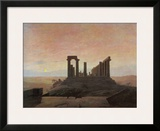 The Temple of Juno at Agrigento Framed Giclee Print by Caspar David Friedrich