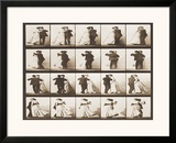 The Waltz Framed Giclee Print by Eadweard Muybridge