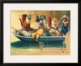 Gone Fishing Framed Giclee Print by Bryan Moon