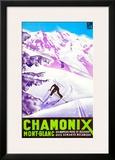 Chamonix Framed Giclee Print