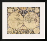 New World Map, c.1676 Prints by Pieter Goos